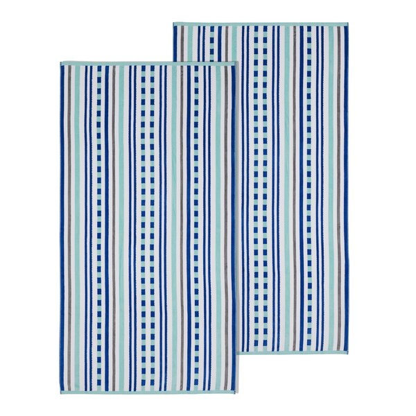 100% Cotton Beach Towel (Set of 2) by Breakwater Bay